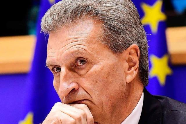 Oettinger entschuldigt sich im EU-Parlament für