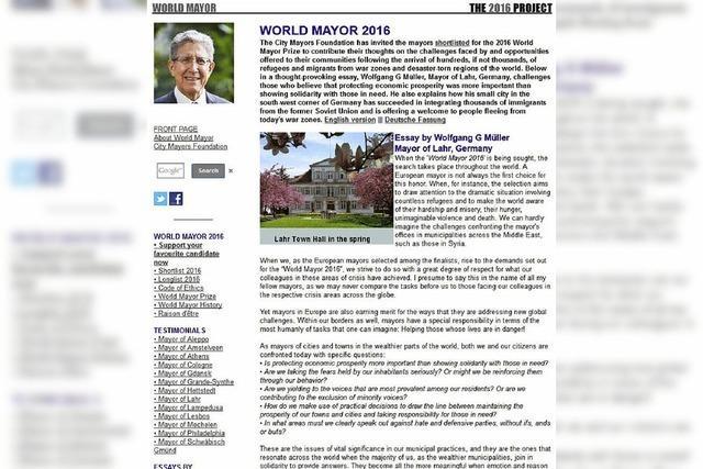 World Mayor: Müller in den Top Fünf