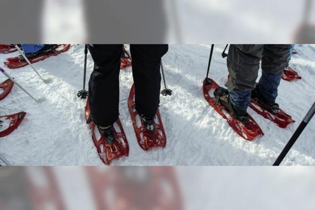In Schneeschuhen rund um den Feldberg wandern