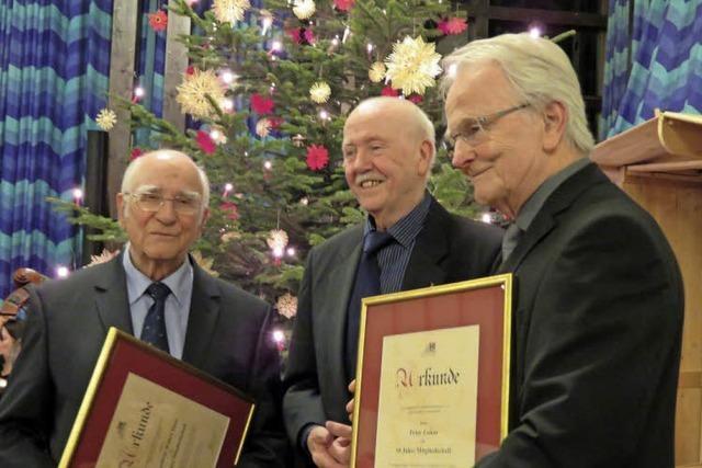 Bürgerverein Landwasser feiert 50-jähriges Bestehen beim Neujahrsempfang
