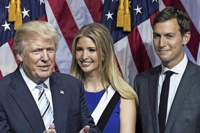 Trump holt seinen Schwiegersohn ins Weiße Haus
