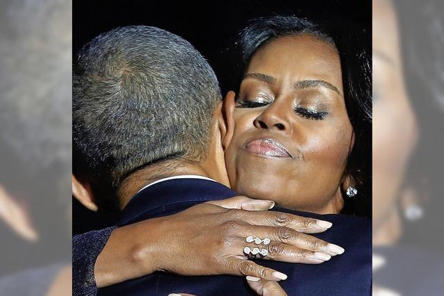 Nur einmal kommen Obama die Tränen