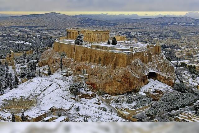 In Griechenland herrscht derzeit extremes Winterwetter