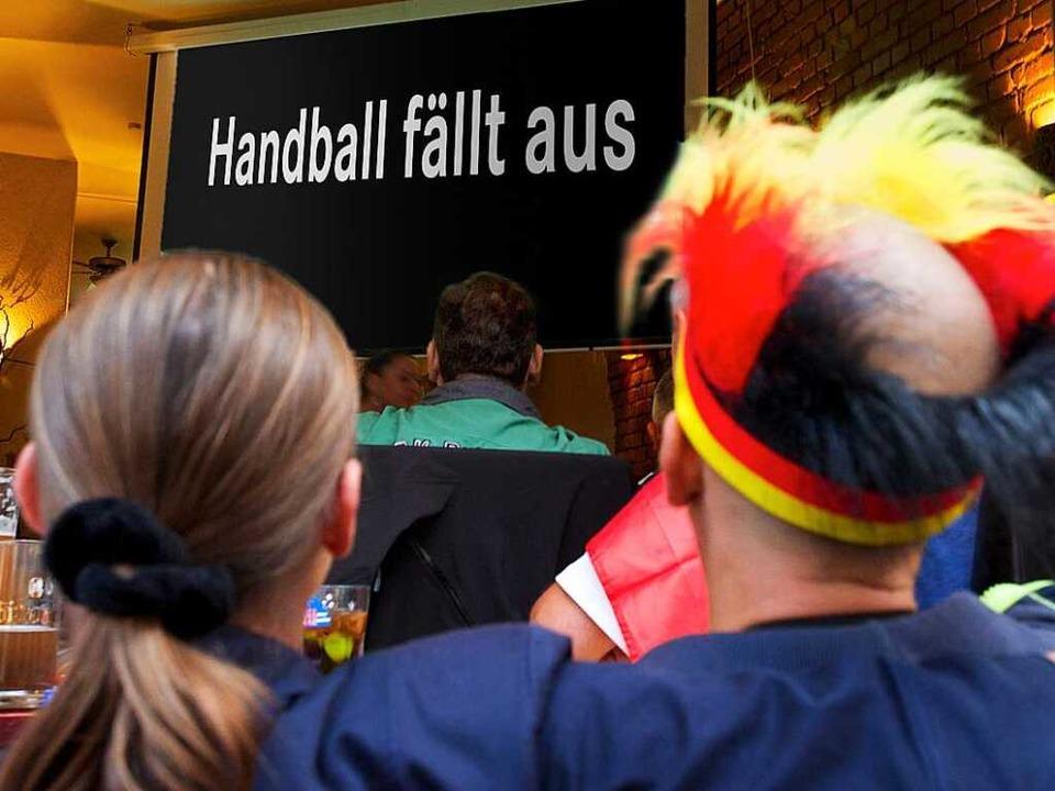 Die Handball-Fans schauen bei der WM fernsehtechnisch in die Röhre.   | Foto: dpa, Keller, Privat