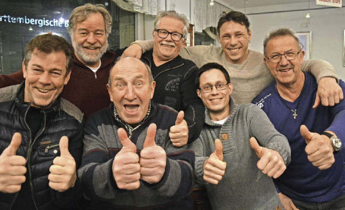 In bester Laune:  von links Andreas Gl...Heinz Sterzel und Klaus Ciprian-Beha.   | Foto: Barbara Ruda