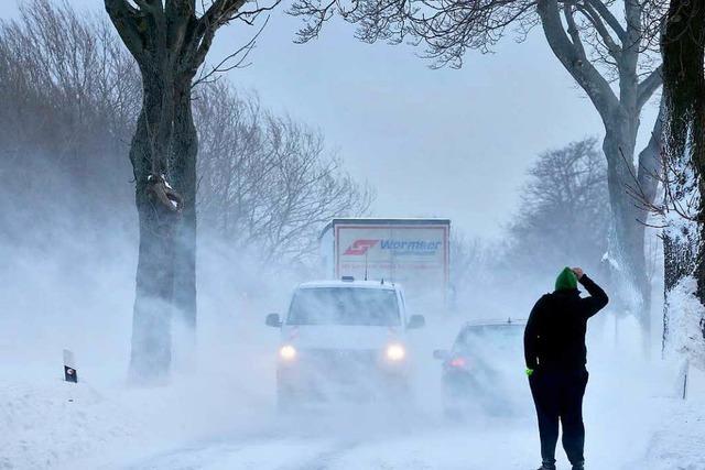Egon im Kreis Lörrach: Tourist verirrt sich im Schneesturm