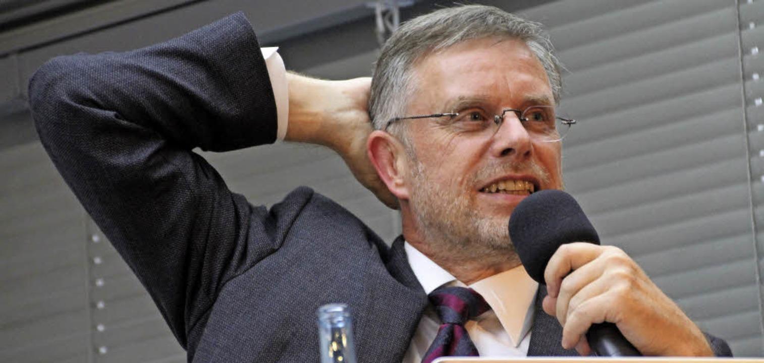 Hat den Ruf eines Wild Duck, also Quer...nter Dueck bei einem Vortrag in Berlin  | Foto: DHBW/Loisl Mink
