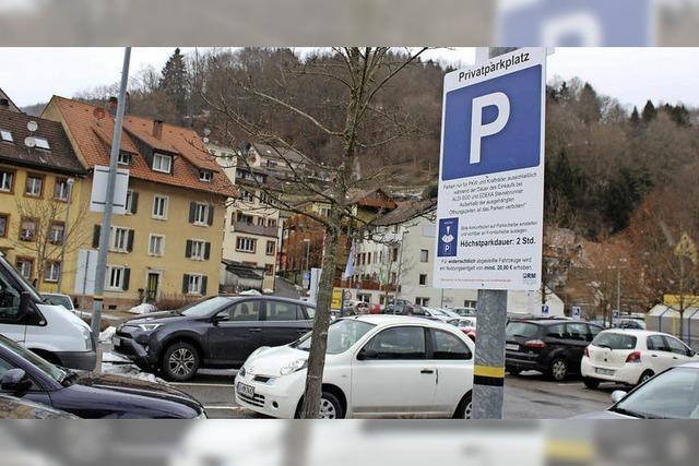 Parkzeit wird begrenzt