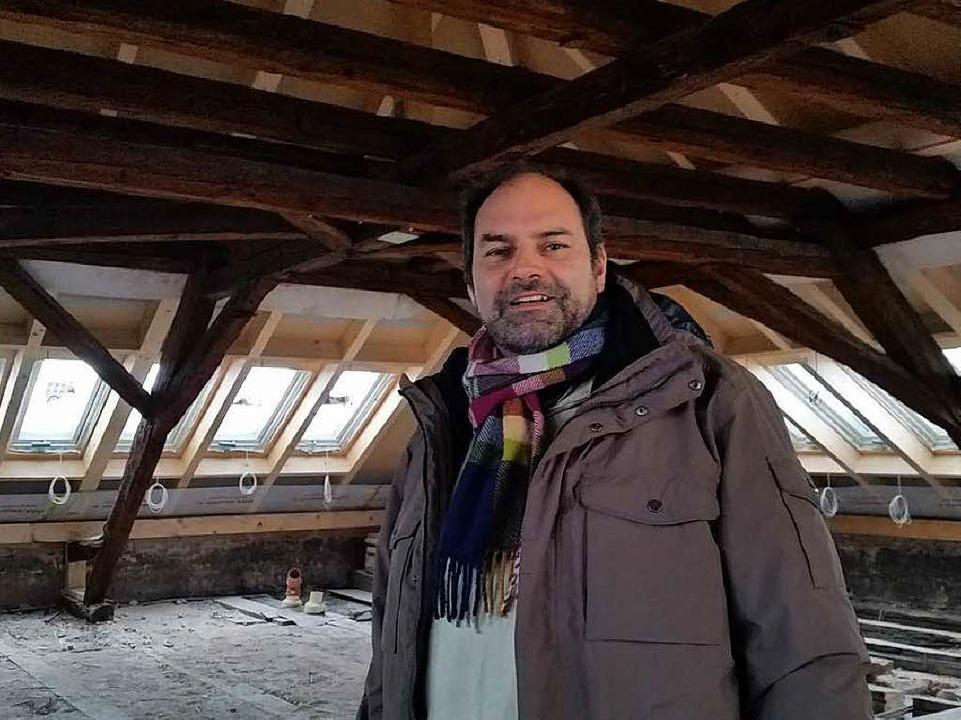 Marc Aeberhard ist der Direktor des Ho...l eine der Suiten eingerichtet werden.  | Foto: Heinz Siebold