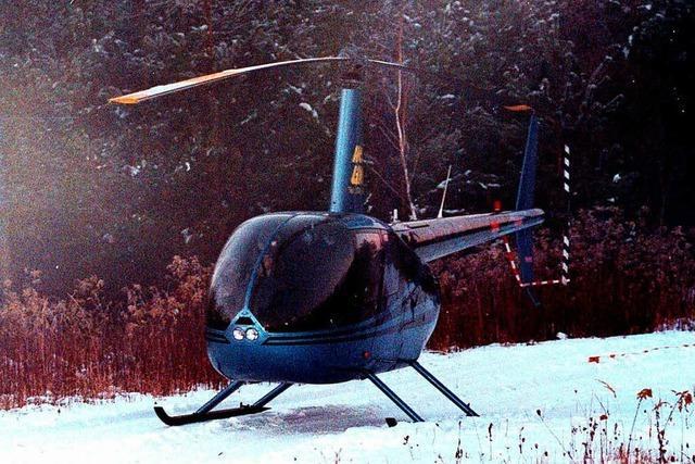 Zwei Männer überfielen vor 20 Jahren Sparkasse mit einem Helikopter