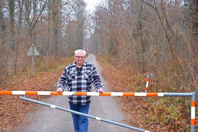 Josef Schindler kümmert sich um den Taubergießen