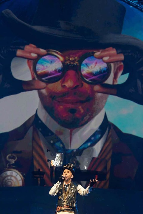 """Premiere von """"Mystorial"""", der Jubiläumsshow von DJ Bobo.    Foto: dpa"""