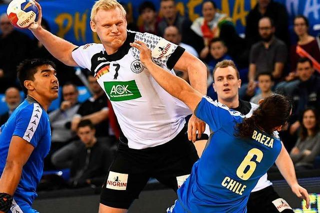 Kantersieg gegen Chile: Deutsche Handballer bei der WM auf Kurs