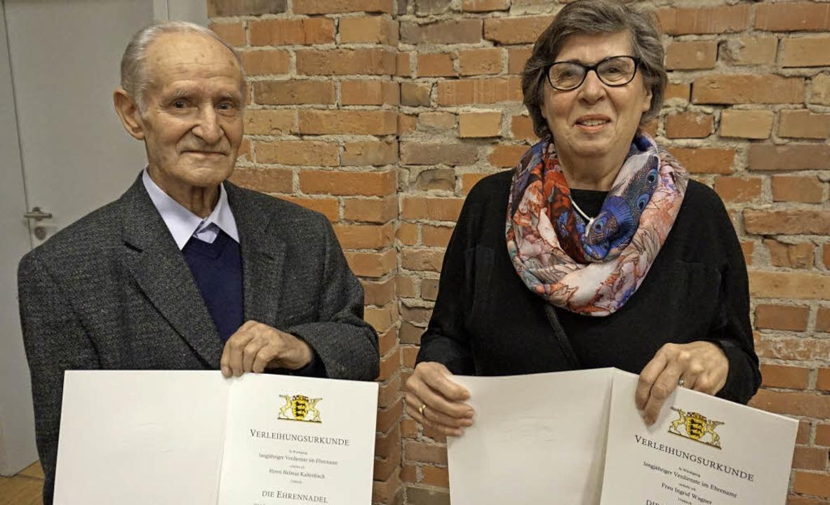 Erhielten die Ehrennadel des Landes Ba...t Kaltenbach vom Kleintierzuchtverein   | Foto: Julius Steckmeister