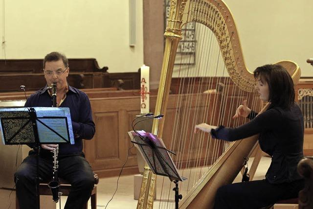 Harfe und Bassetthorn im Dialog