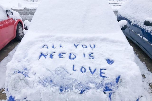 Schrift im Schnee