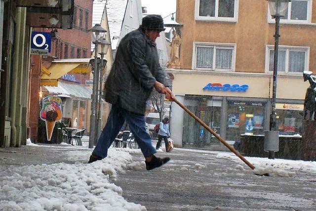 Schneeschippen ist Pflicht – werktags schon ab 7 Uhr
