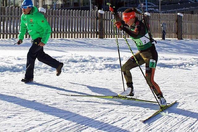 Die Juniorin Christin Maier vom SC Urach präsentiert sich mit zwei Siegen in Topform