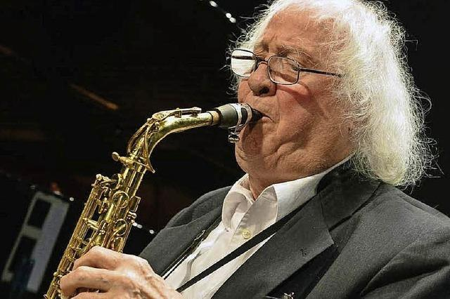 Zusammen mit Thilo Wagner, Jean Philippe Wadle und Daniel Schay beim Jazzclub 29 im Salmen