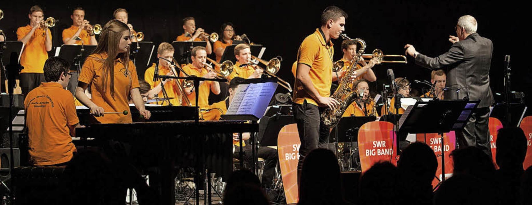 Goethes Groove Connection ist längst e...e vor einem Jahr mit der SWR-Bigband.   | Foto: Goethe-Gymnasium