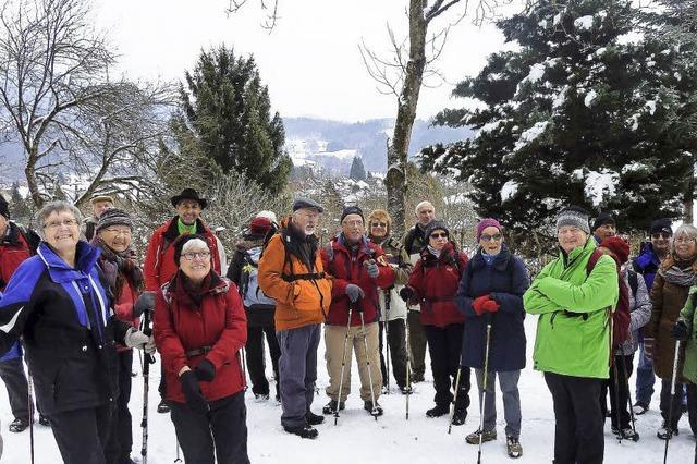 Im Schnee über Berg und Tal