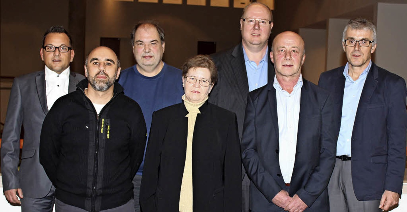 Die Geehrten (von links):  Sami Abassi...ki,  Bernhard Bierer und  Paul Gutmann  | Foto: Mario Schöneberg