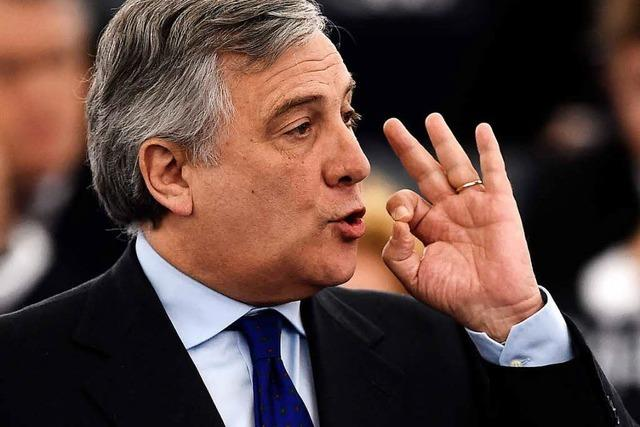 Tajani wird neuer Präsident des Europaparlaments