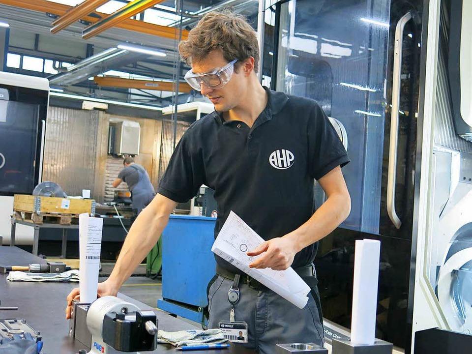 Felix Müller aus Oberrimsingen ist begeisterter  Handwerker.  | Foto: Claudia Müller