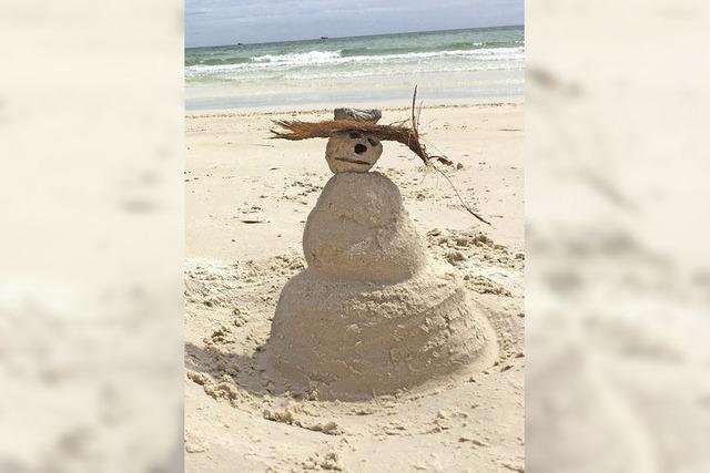 Sand-Schneemann