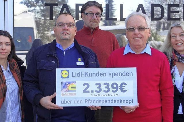 Lidl-Kunden teilen mit der Tafel