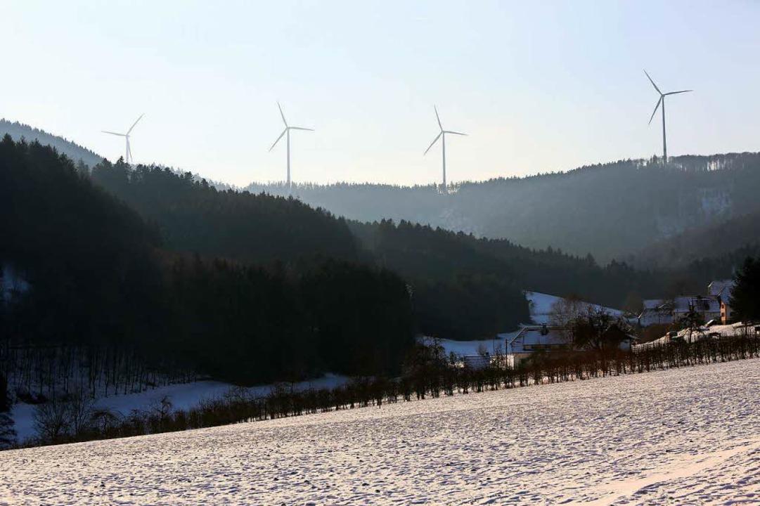 Sorgen weiter für Ärger: die Windräder im Bürgerwindpark Südliche Ortenau  | Foto: Christoph Breithaupt