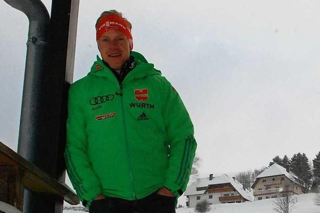 Biathlet Roman Rees trainiert auch daheim in Hofsgrund
