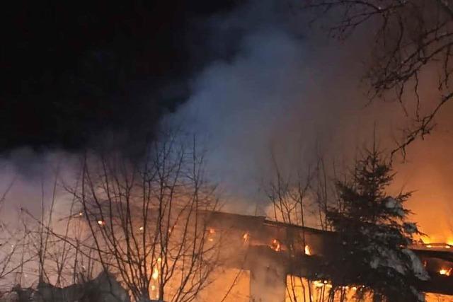 Freizeitheim Moosenmättle hat gebrannt – keine Verletzte