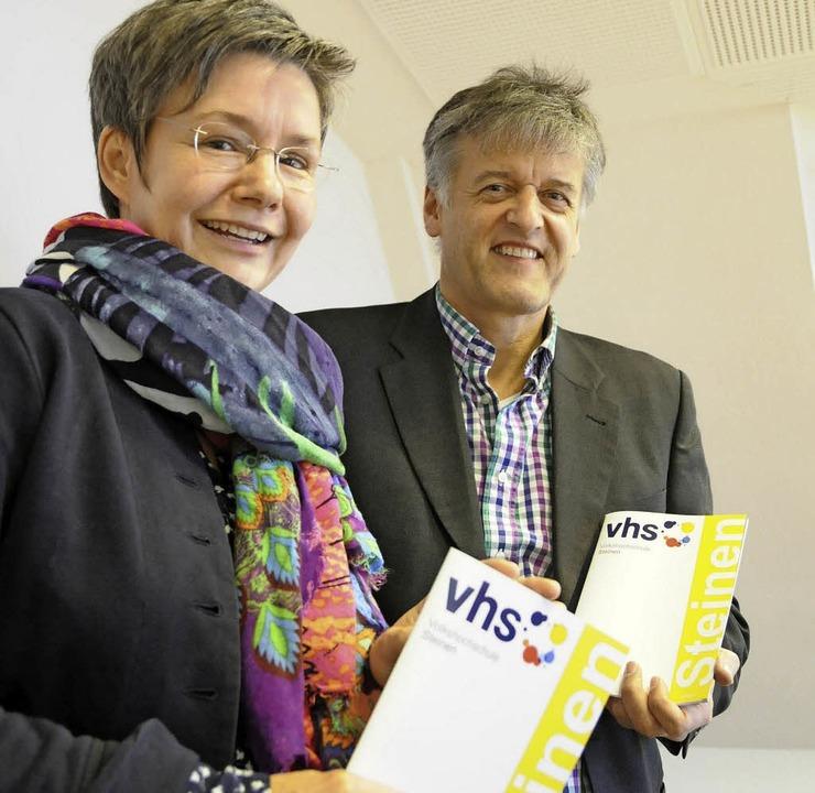 Nehmen gemeinsam Kurs auf ein  neues V...röger und Bürgermeister Gunter Braun.   | Foto: Robert Bergmann/VHS