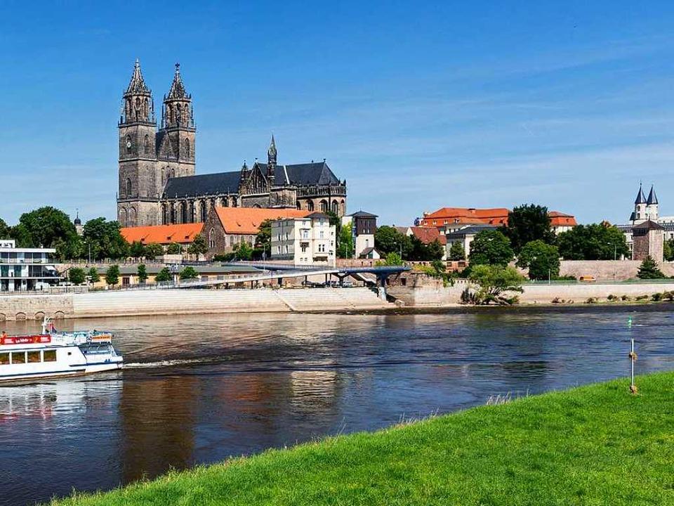An der Elbe: der Magdeburger Dom  | Foto: © www.AndreasLander.de