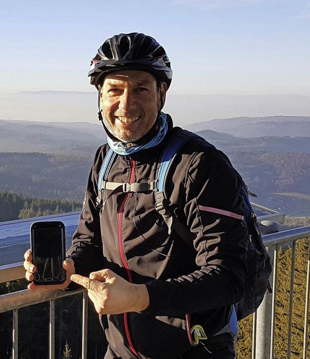 Bernd Grundmann nutzt auch GPS für seine Touren.   | Foto: TG Altorf