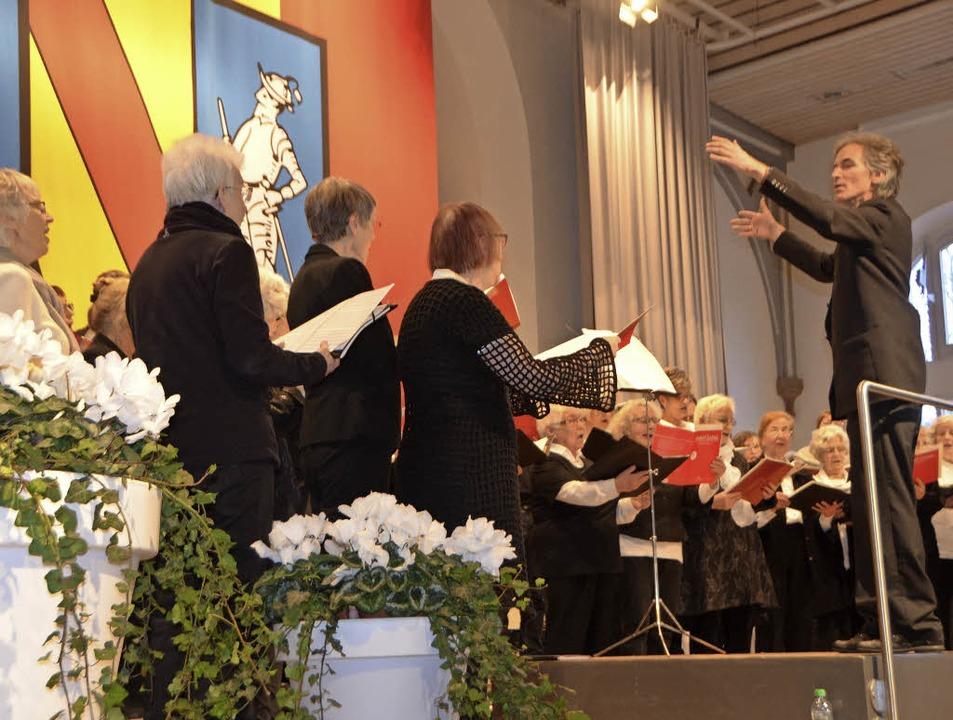 Die Kantorei sang beim Neujahrsempfang.     Foto: Walser