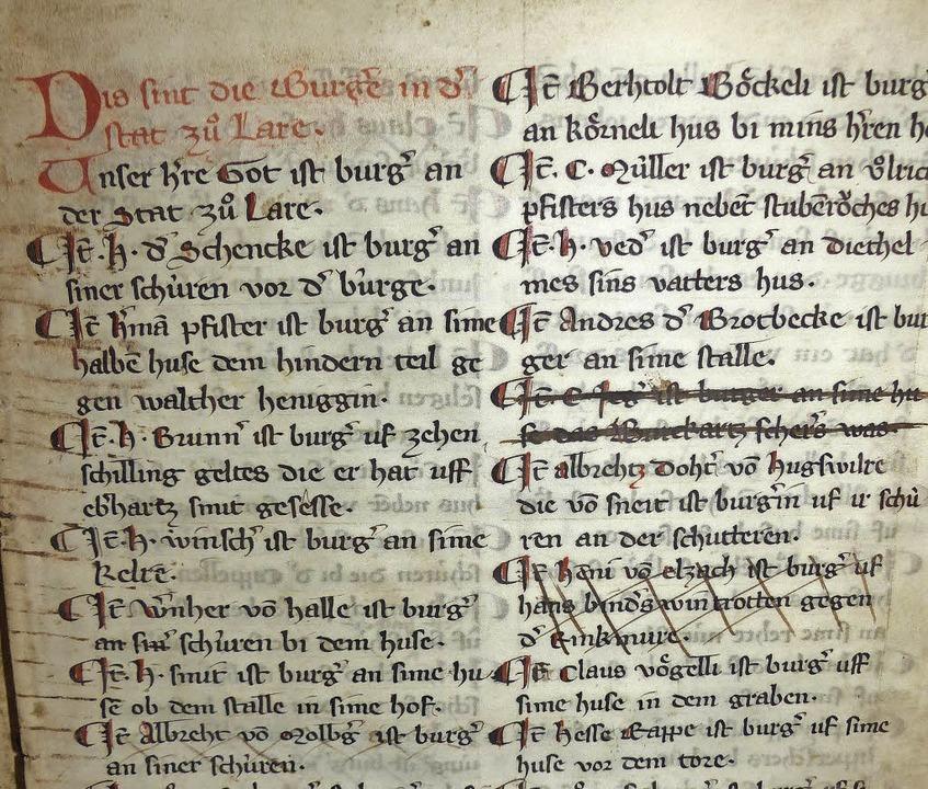 Der Schreiber begann mit Gott:  &#8222...r Ortsherr des benachbarten Burgheim.   | Foto: E. Klem