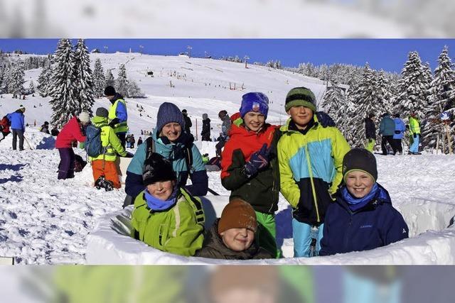 Mit Spaß beim Wintersport