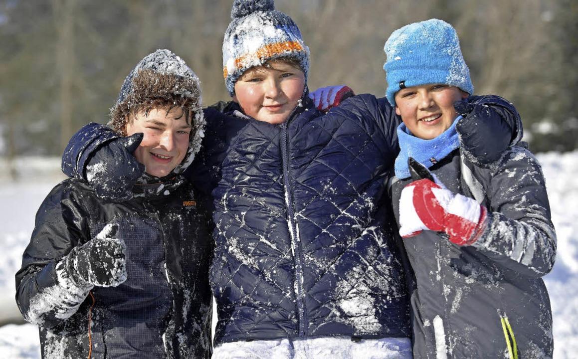 Die Drei aus dem Schnee <ppp></ppp>    Foto: Wolfgang Scheu