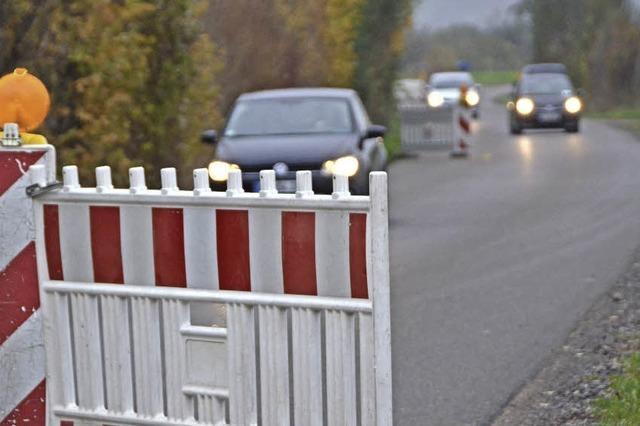 Fahrbahnverengung: Binzen will aus Provisorium Dauerlösung machen