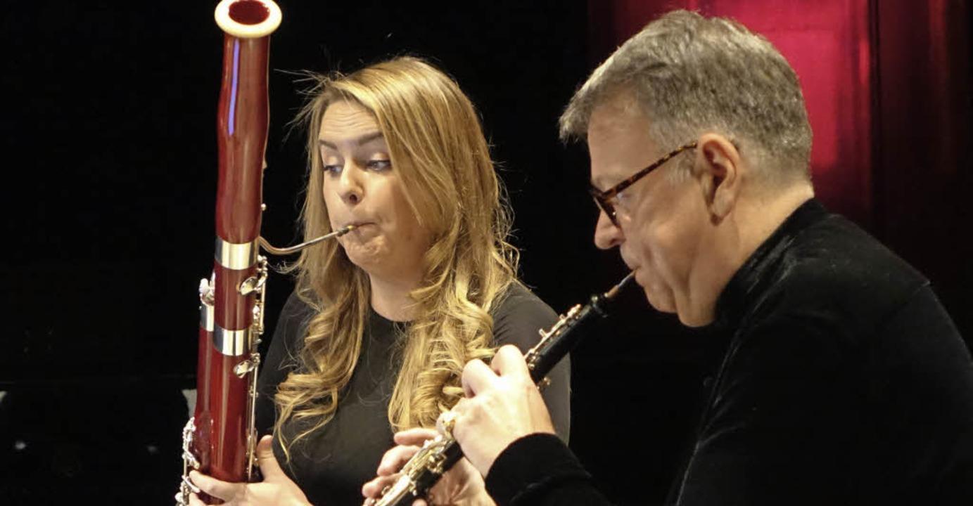 Oboist Nicolas Daniel und Fagottistin Amy Harman     Foto: Roswitha Frey