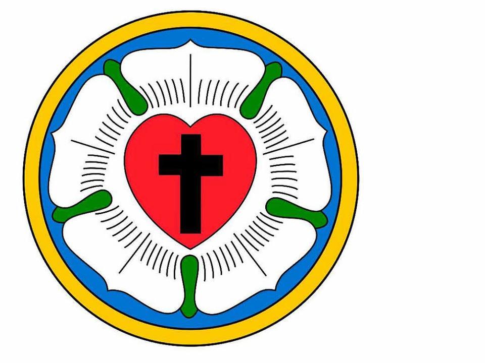 Die Lutherrose  benutzte Luther als eine Art Logo seines Glaubens.    Foto: Wikipedia