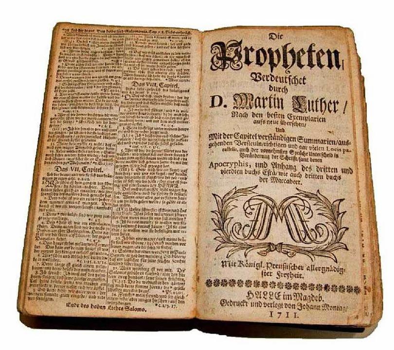 Welche Rolle spielte Luther in der Ent... Eine Lutherschrift aus dem Jahr 1711.  | Foto: -