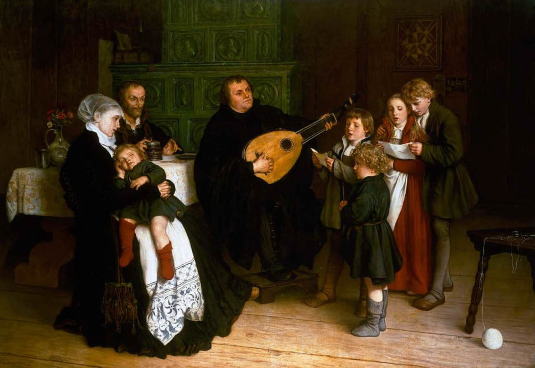 So idealisierte  Gustav Adolph Spangen... Kindern und Mitstreiter  Melanchthon.    Foto: akg-images