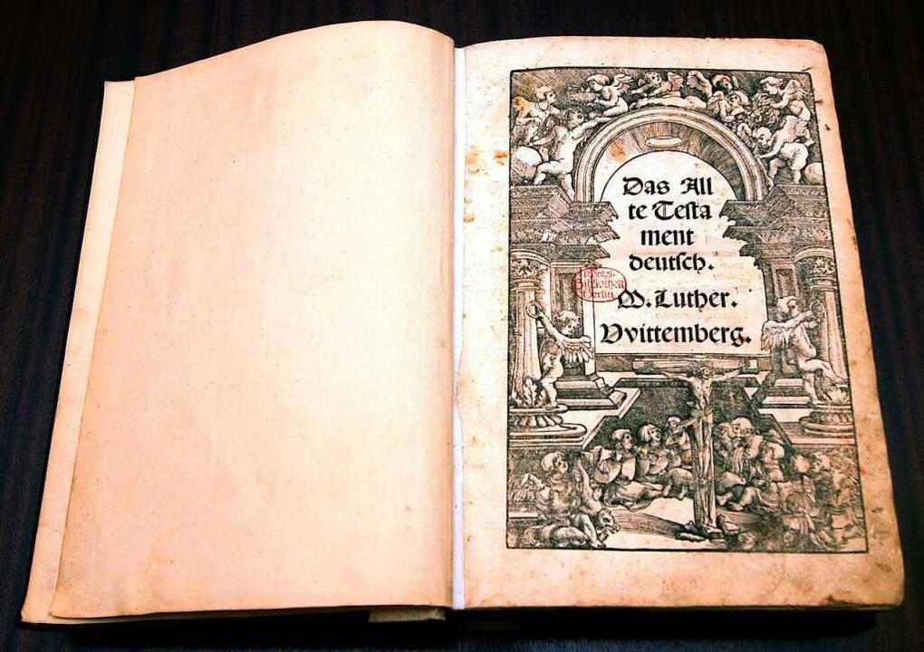 Luther-Bibel von 1522    Foto: Kalaene Jens