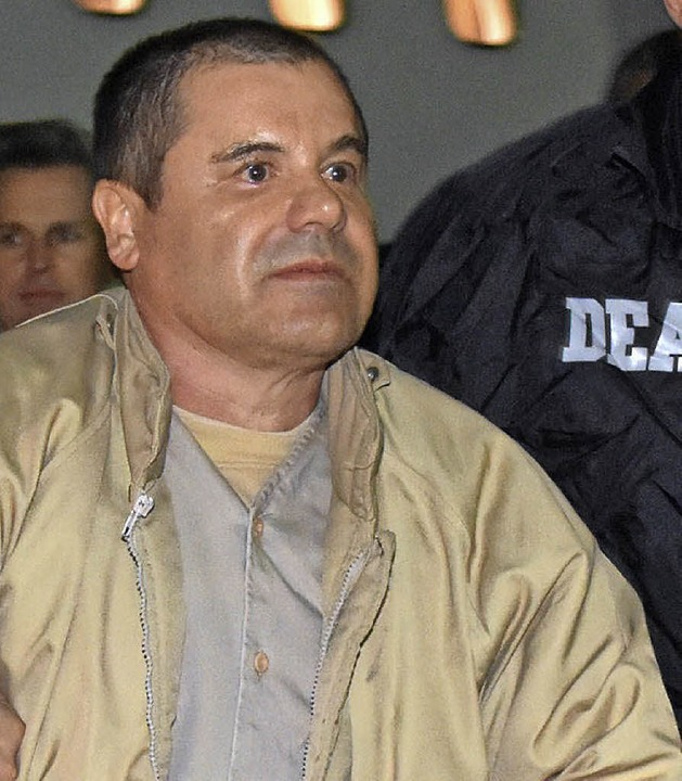 El Chapo am Donnerstag   in New York.   | Foto: dpa