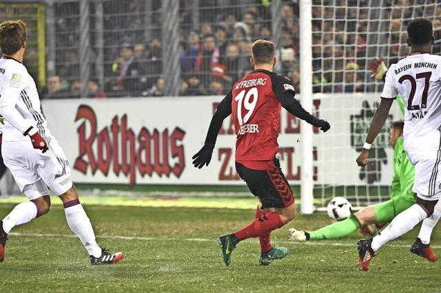 Sportlcub Freiburg ist einem Remis gegen den Rekordmeister ganz nah