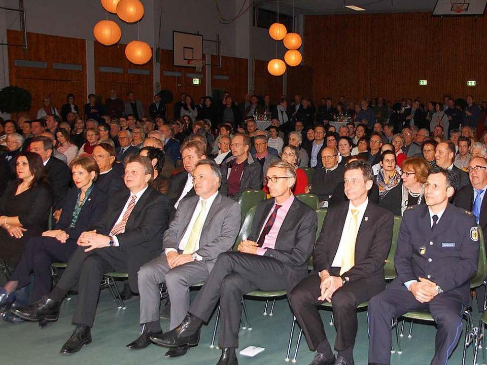 Gut besucht war der Neujahrsempfang Efringen-Kirchen.    Foto: Herbert Frey