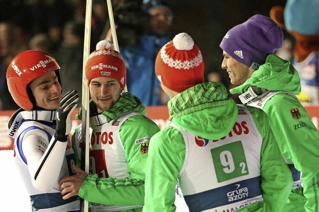 Deutsche Skispringer im Aufwind
